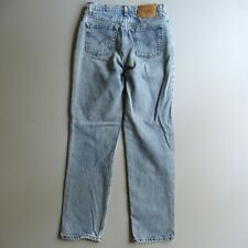 Vintage Levis 512 Slim Straight Fit High Waist Mom Jeans Tag 9 Jrs Measure 28