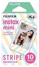 10 Fuji Instax Mini 8 Film Stripe Mini 7s/50s/90 Fujifilm Share SP-1 Mini 8 Plus