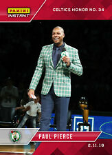2017-2018 Panini Instant #95 Paul Pierce Celtics Honor Jersey #34 Only 81 Made