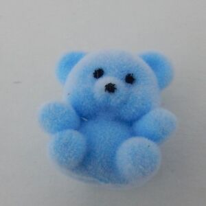 New Mini Blue Flocked Bear Great for Crafts, Byers Choice, Village Displays