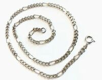 "Vintage Sterling Silver Figaro 16"" Chain Necklace HM 1979 - GIFT BOXED"