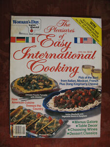 WOMANS DAY magazine April 1983 SPECIAL Easy International Cooking!