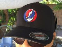 Grateful Dead Steal Your Face Embroidered Flexfit Ball Cap Black, Navy or Olive