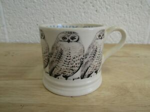 EMMA BRIDGEWATER  Snowy Owl Small Mug 2003 6 3/4 ounces/142ml (Hospiscare)