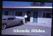1960s  35mm Photo slide  car automobile Buick Special at motel