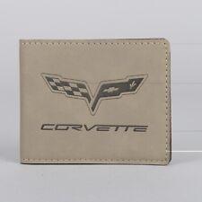 Corvette C6 Leather Wallet New Light Brown