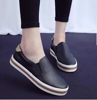 Womens Oxfords Flats Slip on Breathable Leather Casual Loafers Sneakers Shoes