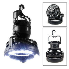 Portable Camping Tent Light & Fan 18 LED Lantern Outdoor Gear Equipment