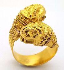 Ilias LALAoUNIS 750 18K Yellow Gold Bypass Animal Head Ring Dragon Snake Lion