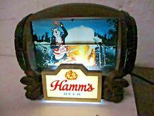 vintage 1960s Hamm's Lighted Beer Barrel Sign, 8 Flip Scenes