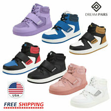DREAM PAIRS Kids Boys Girls High Top Sneaker Youth Fashion Basketball Shoes