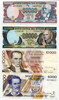 Ecuador Set 4 Pcs 5000 10000 20000 500000 Sucres 1999 P 127 128 129 130 UNC