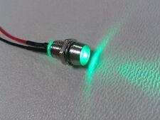 3 Stück LED grün mit Fassung 5mm anschlußfertig für 12V indirekte Beleuchtung