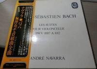 ANDRE NAVARRA BACH 6 CELLO SUITES 3LP JAPAN STEREO