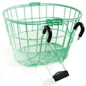 ColorBasket Oval Mesh Bottom Lift-Off Front Bike Basket Mint Green