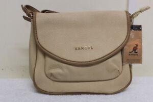 Kangol Beige & Brown Flapover Crossbody Bag