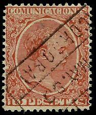 SPAIN 1889 10 PESETAS ORANGE RED Sc #270, TOP VALUE, CV $ 110.00