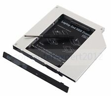 Universal 2nd HDD SSD Hard Drive Caddy Adapter replace laptop 9.5mm IDE DVD ODD