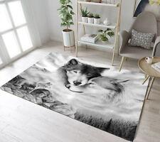 2'7''x1'8'' Black and White Snow Wolf Area Rug Decorative Floor Door Mat Carpet
