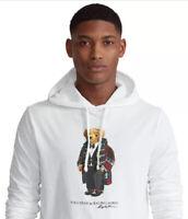 NWT POLO RALPH LAUREN Men's XL 2020 Holiday Bear Cotton T-shirt Pullover Hoodie