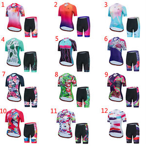 2021 Miloto Cycling Clothes Women's Bike Cycle Jersey Top and Padded Shorts Kit