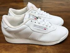 Vintage Reebok Classic Princess Shoes 1475 Womens Size 7 White Leather Lace Up