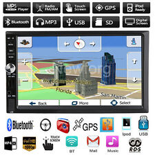 GPS Sat Nav Car Head Unit 2DIN MP3 Player FM Radio Stereo Touch Bluetooth USB/TF