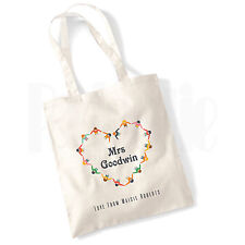 Personalised 'Children Heart' Canvas Tote Bag- GIFT FOR THANK YOU TEACHER