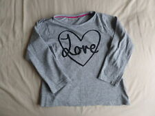 I Loveswear Girls Grey Long Sleeve T-Shirt Size 4-5 Years