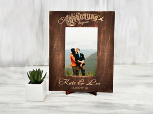 Personalized Wedding Picture Frame Let the Adventure Begins Custom Photo Frame