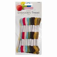 20 Madejas Varios Colores Hilo de bordado Cruz stitch/braiding/craft Coser