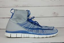 Nike Free Flyknit Mercurial Blue Grey Men's Size 12 Running Shoes 805554 003