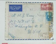 O) 1945 Middle East - Western Asia, Censorship-Examined, President Taj Eddin Has