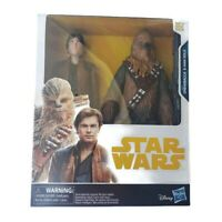 Star Wars 2 Action Figures Pack Han Solo and Chewbacca 10 inch Disney Hasbro NEW