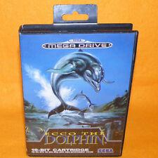 VINTAGE 1992 SEGA MEGA DRIVE ECCO THE DOLPHIN 16-BIT CARTRIDGE VIDEO GAME PAL