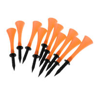 Pack of 10 Orange Rubber Golf Tees 83mm - High Quality
