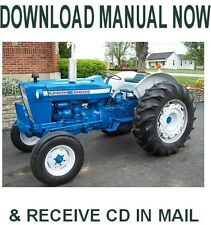 1965-1975 Ford 4000 4400 4500 Tractor factory Ford repair service manual on Cd