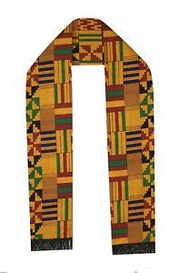 BLACK HISTORY MONTH African Scarf Kente Cloth Men Scarves Women Graduation Stole