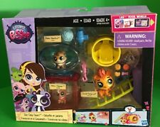 Littlest Pet Shop Day Camp Capers Theme Play Set Pet & 2 Pet Friends Hasbro NIB