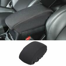 1x Black Center Console Armrest Box Cover Pad For Jeep Cherokee 2014 2019 Fits Jeep Cherokee