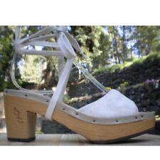Vintage 70s/1970s Deadstock Nos Bare Traps Wood Strappy Sandals~Hippie~Boho~Sz 8