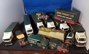 Twelve Corgi Eddie Stobart Lorries And Vans