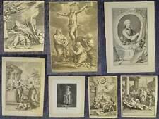Recopilación 20 grabados en cobre hojas sueltas Biblia escenas retratos 17./18. jhd. #b500s