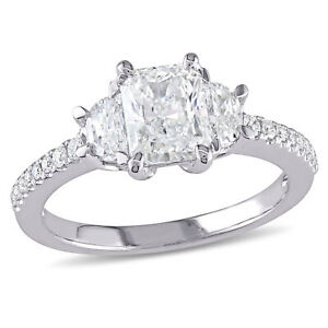 Amour 1 1/2 CT TW Diamond 3-Stone Engagement Ring in 14k White Gold