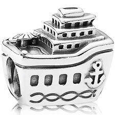 Original PANDORA Charm Element 791043 Kreuzfahrt Schiff Silber Bead