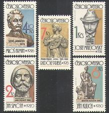 Czechoslovakia 1982 Art/Sculptures/Artists/Writers/Composers 5v set (n37082)