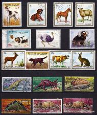16T5 Fujairah 17 Briefmarken oblit Tiere Prähistorische & inländische