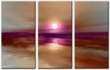 3 Panel Total 120x80cm Large ABSTRACT ART CANVAS  DIGITAL BURNING Purple