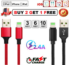 LONG Lightning Charger Cable For iPhone X XR XS iPhone 8 7 6 Plus Data Sync Cord