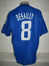 #8 DESAILLY FRANCE 2002-04 HOME SHIRT ADIDAS SIZE L